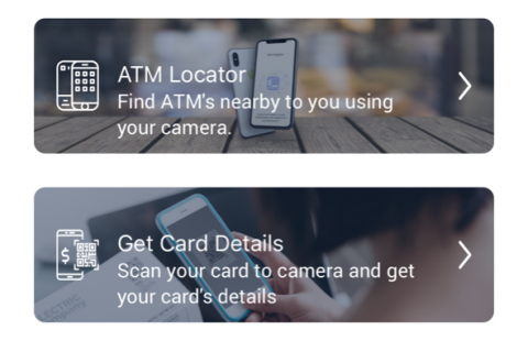 mobile banking solution screen